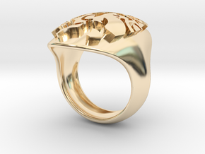 face extruded size 5 in 14K Yellow Gold