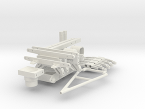 Parts for Trailer for KingKong RC Zil 130 in White Natural Versatile Plastic