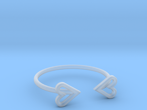 FLYHIGH: Open Heart Skinny Bracelet in Smooth Fine Detail Plastic