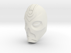 Dragon Priest Mask (Smooth) in White Natural Versatile Plastic