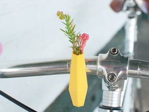 Hexagon Bike Planter in Yellow Strong & Flexible Polished