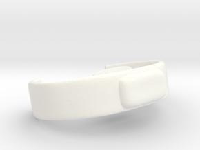 King Tamusk Belt & Brooch VINTAGE in White Processed Versatile Plastic