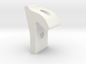 Convertible Top Latch (1963-1966 Dart, Valiant) in White Natural Versatile Plastic