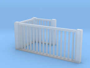 1:48 scale upper railings in Smooth Fine Detail Plastic