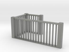 1:48 scale upper railings in Gray PA12