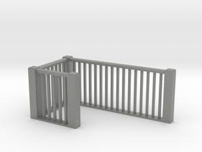 1:48 scale upper railings 2 in Gray PA12