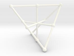 Petersen P1 Graph in White Processed Versatile Plastic