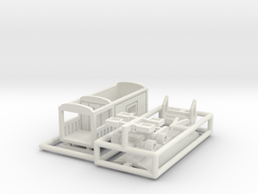 """Wahrsagerwagen"" - 1:160 (N scale) in White Natural Versatile Plastic"