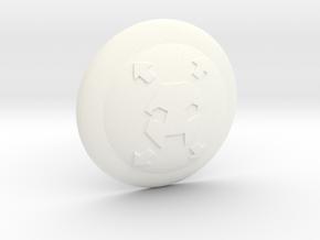 Space Pirate Shield VINTAGE in White Processed Versatile Plastic