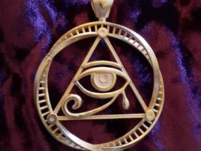 Eye of Ra DNA pendant in Polished Gold Steel