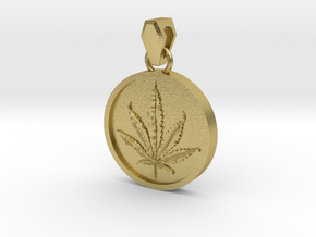 Canntagram Reversible Pendant in Natural Brass (Interlocking Parts)