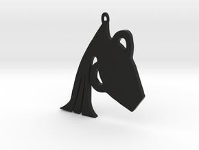 Aquarius zodiac sign pendant in Black Premium Versatile Plastic