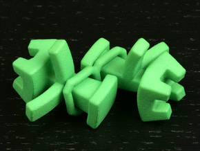 Octahedral holonomy maze rooks in Green Processed Versatile Plastic