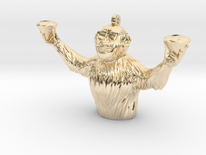 Apes Together Strong in 14k Gold Plated Brass