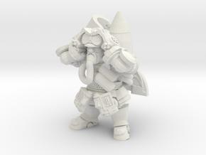 Dwarf Rocketeer in White Natural Versatile Plastic