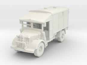 Austin K2Y Ambulance 1/100 in White Natural Versatile Plastic