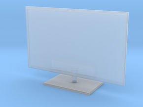 """1:43 (DIE-CAST) 32"""" LED TV FLAT SCREEN (V1.3) in Smooth Fine Detail Plastic"""