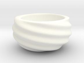 Beautiful Geometric Succulent 3D Printing Planter  in White Processed Versatile Plastic