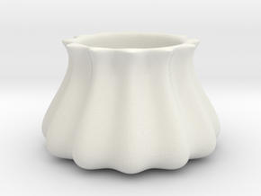 Charming Geometric Succulent 3D Printing Planter  in White Natural Versatile Plastic