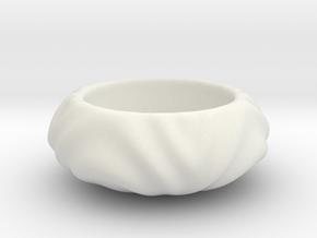 Flat Cute Geometric Succulent 3D Printing Planter  in White Natural Versatile Plastic