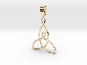 Mother and Child Knot with bail 25mm in 14K Yellow Gold