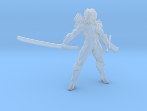 MG Raiden miniature model fantasy games rpg dnd in Smooth Fine Detail Plastic