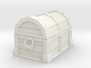 Miniature Treasure Chest in White Natural Versatile Plastic