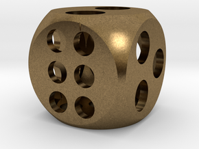"0.5"" Balanced D6 in Natural Bronze"