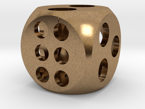 "0.5"" Balanced D6 in Natural Brass"