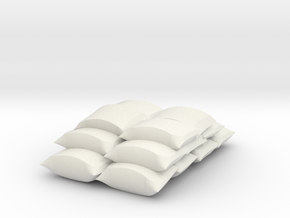 O scale stacked sacks in White Natural Versatile Plastic