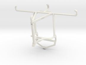 Controller mount for PS4 & Oppo A54 - Top in White Natural Versatile Plastic