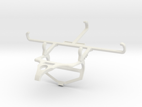 Controller mount for PS4 & Samsung Galaxy Xcover 5 in White Natural Versatile Plastic