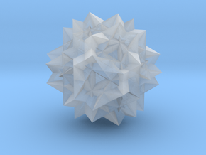 Uniform Great Rhombicosidodecahedron - 1 inch in Smooth Fine Detail Plastic