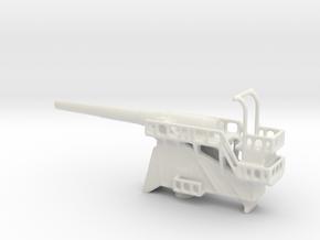 356mm 52  Russian coastal artillery 1/144 in White Natural Versatile Plastic