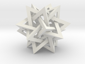 Intersecting Tetrahedra in White Natural Versatile Plastic