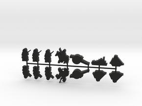Custom Order, black, 14-set  in Black Natural Versatile Plastic