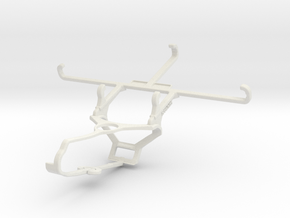Controller mount for Steam & Samsung Galaxy S21 5G in White Natural Versatile Plastic