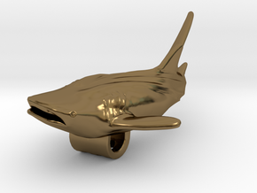 Whale Shark Pendant in Polished Bronze