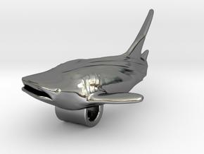 Whale Shark Pendant in Premium Silver
