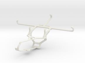 Controller mount for Steam & Xiaomi Poco F3 - Fron in White Natural Versatile Plastic