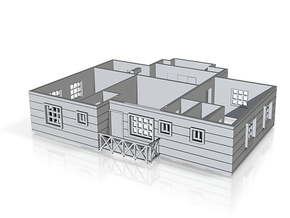 first floor plan _150cr in Polished Bronzed Silver Steel