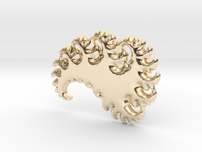 Abstract 3D Fractal Pendant in 14K Yellow Gold