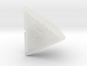 4 Sided Maze Die V2 in Smooth Fine Detail Plastic