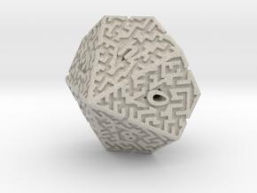 10 Sided Maze Die in Natural Sandstone