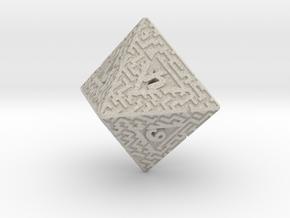 8 Sided Maze Die in Natural Sandstone