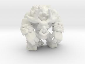 Chained Minotaur miniature model fantasy games dnd in White Natural Versatile Plastic