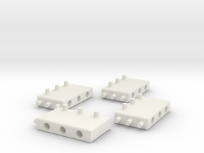 Building Blocks for MODULO - Set2 in White Natural Versatile Plastic