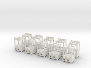 "10 Greiferautomaten nach ""Ex 1"" 1:87 (H0 scale)  in White Natural Versatile Plastic"