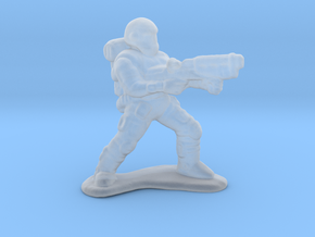 Heavy Weapons Commando miniature model games rpg in Smooth Fine Detail Plastic