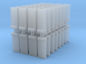 Concrete T-Wall (x64) 1/500 in Smooth Fine Detail Plastic